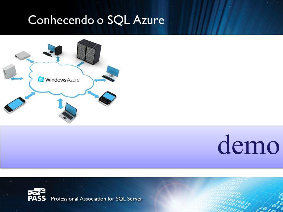 Conhecendo o SQL Azure demo