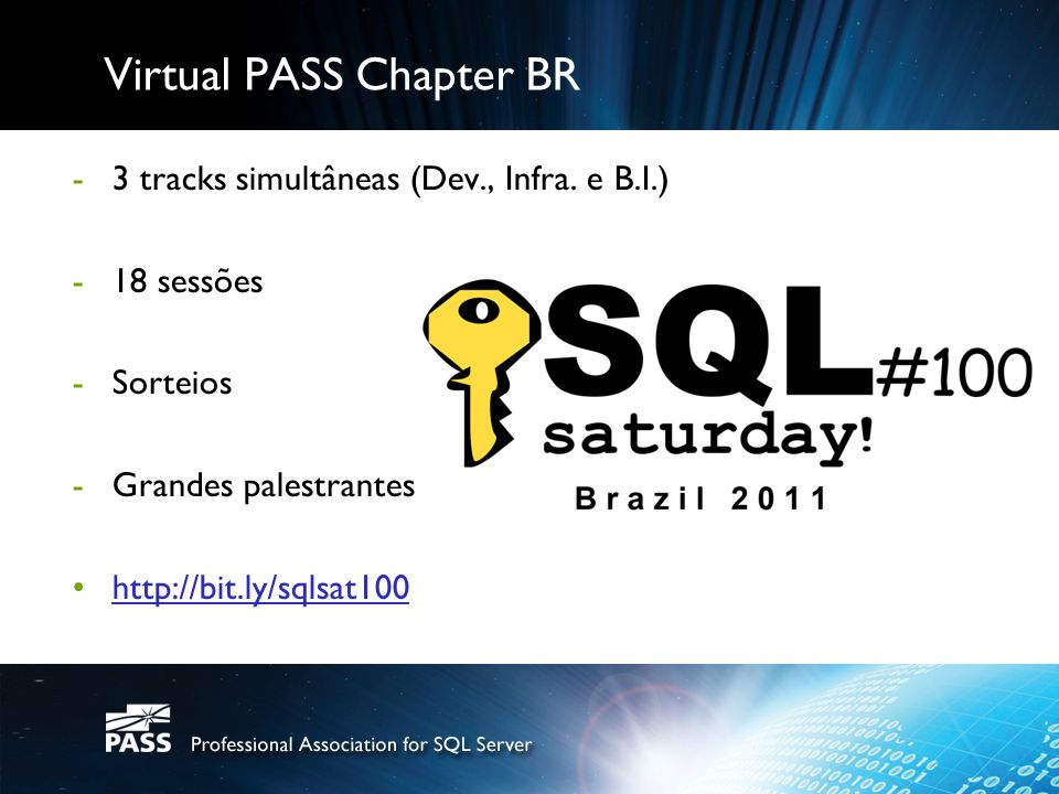 Virtual PASS Chapter BR
