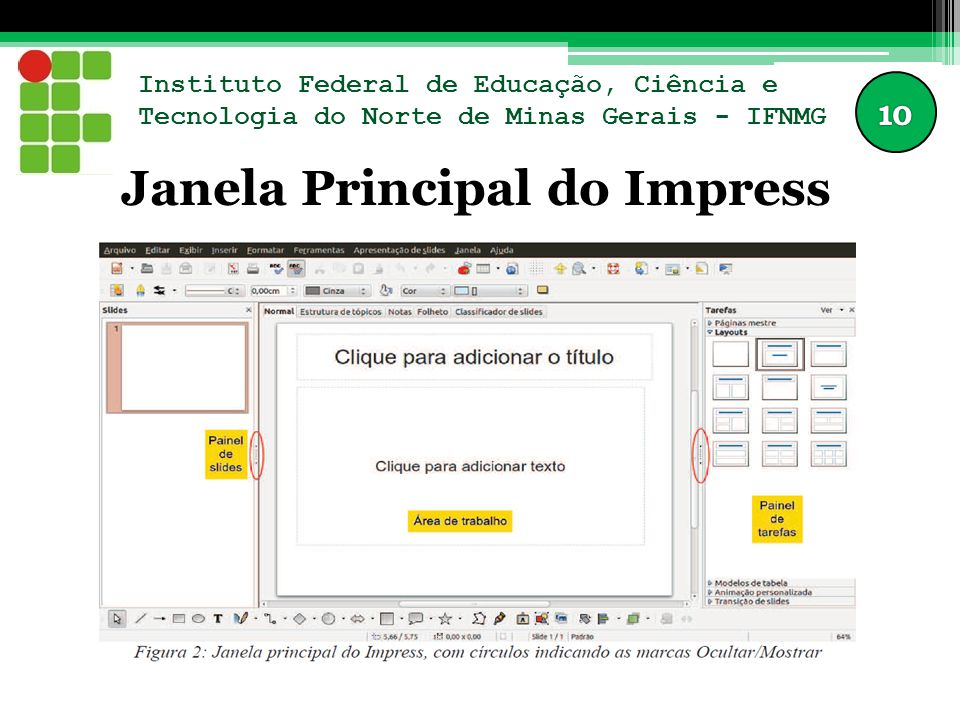 Janela Principal do Impress