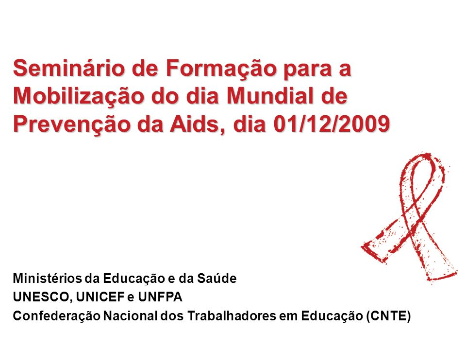 Seminário de Formação para a Mobilização do dia Mundial de Prevenção da Aids, dia 01/12/2009