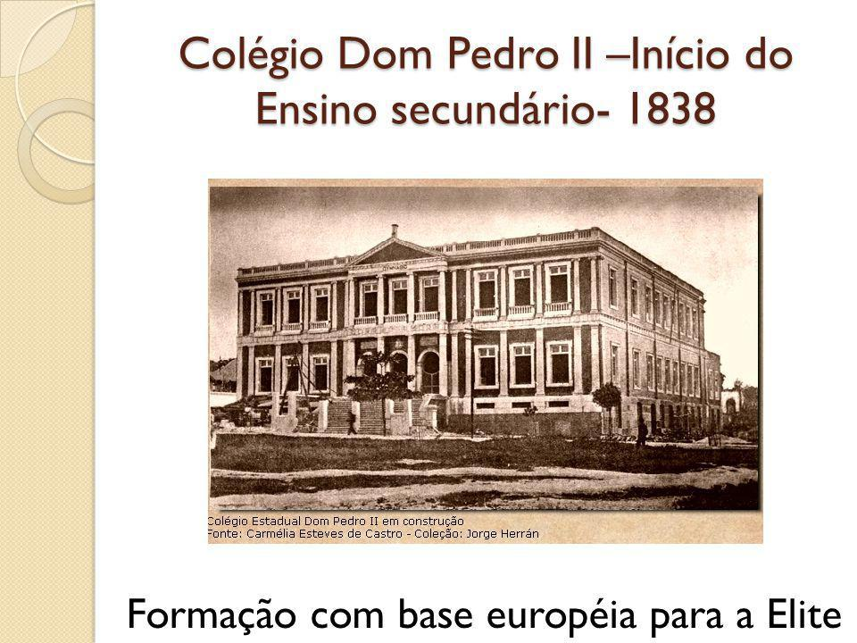 Colégio Dom Pedro II –Início do Ensino secundário- 1838
