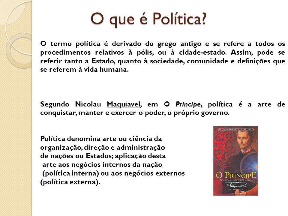 O que é Política