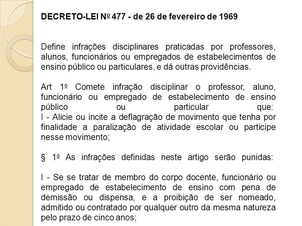 DECRETO-LEI No 477 - de 26 de fevereiro de 1969