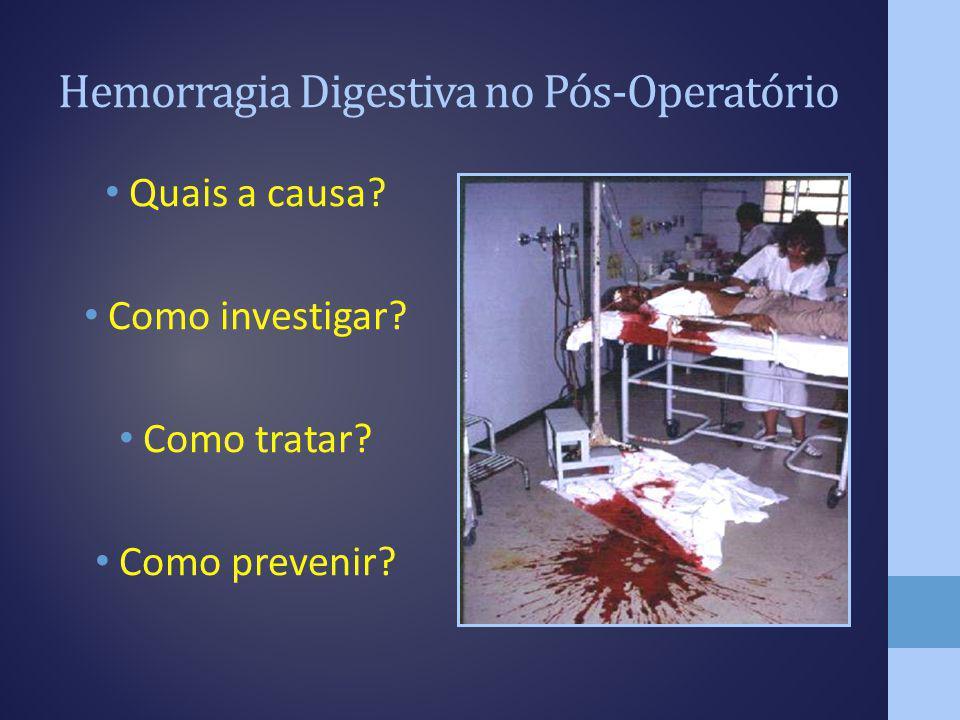 Hemorragia Digestiva no Pós-Operatório