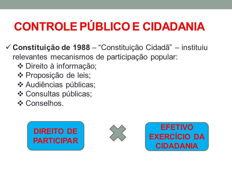 CONTROLE PÚBLICO E CIDADANIA