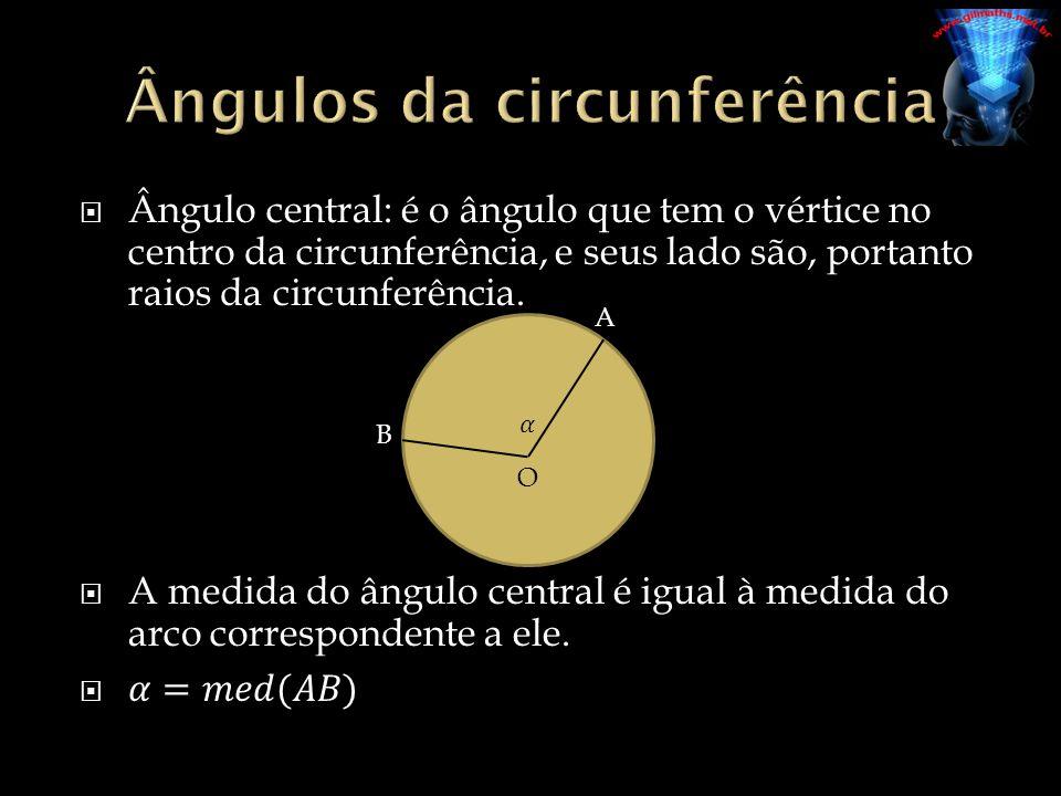 Ângulos da circunferência