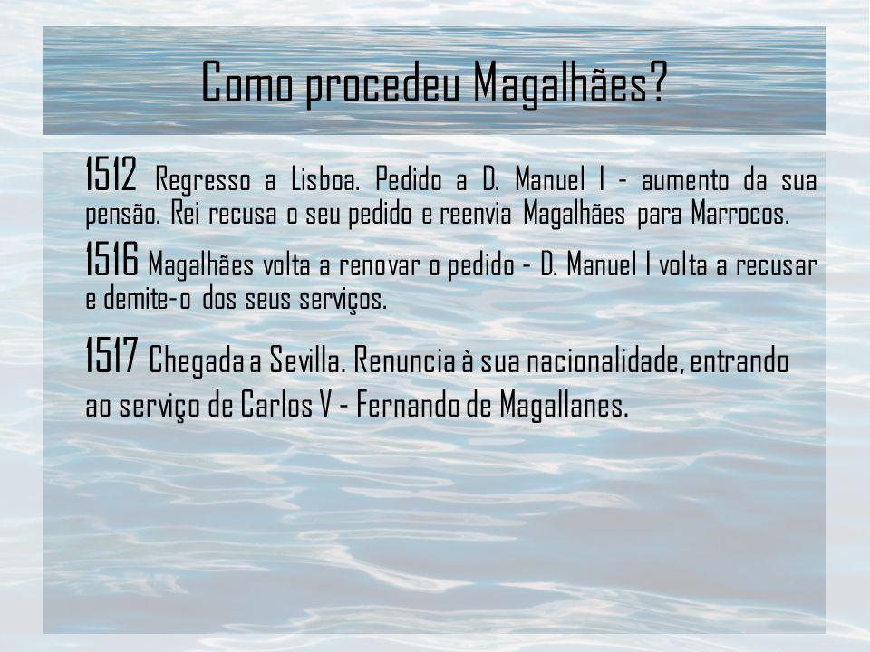 Como procedeu Magalhães