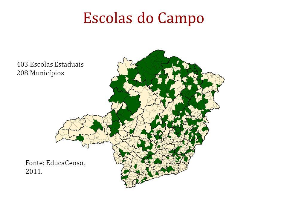 Escolas do Campo 403 Escolas Estaduais 208 Municípios