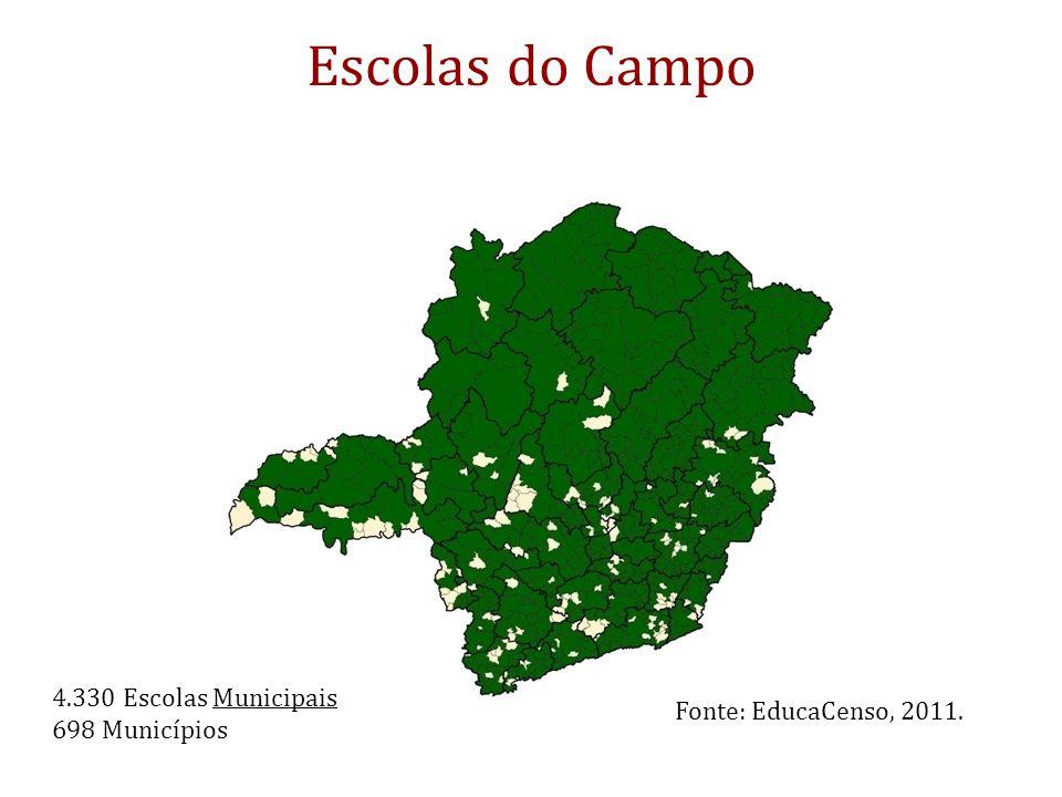 Escolas do Campo 4.330 Escolas Municipais 698 Municípios