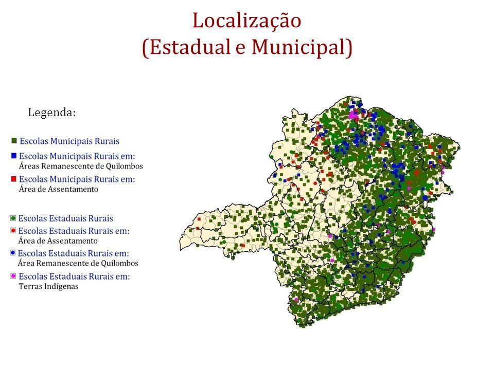Localização (Estadual e Municipal)