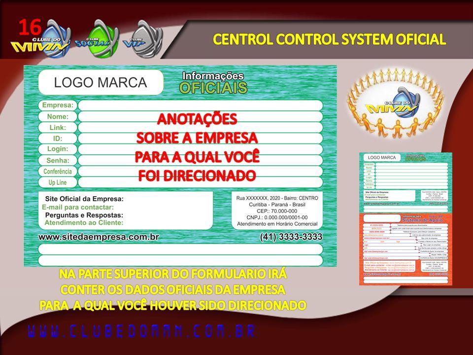 16 CENTROL CONTROL SYSTEM OFICIAL ANOTAÇÕES SOBRE A EMPRESA
