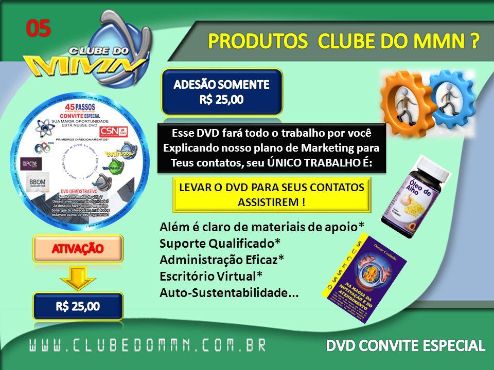 05 PRODUTOS CLUBE DO MMN DVD CONVITE ESPECIAL