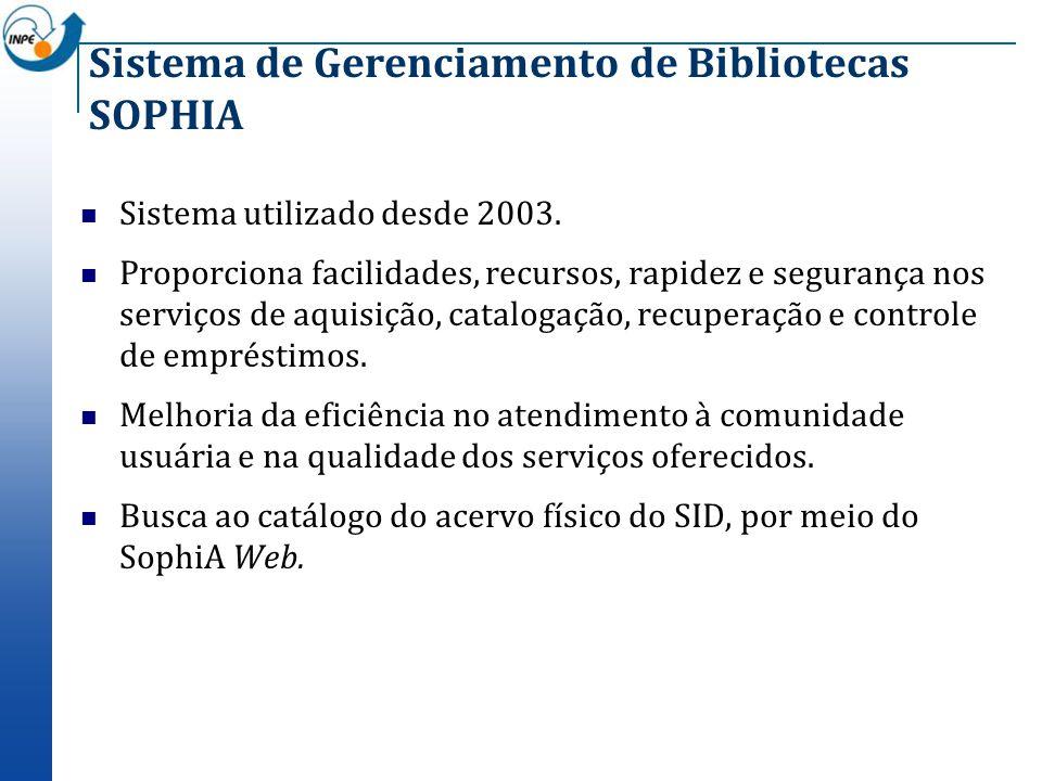 Sistema de Gerenciamento de Bibliotecas SOPHIA