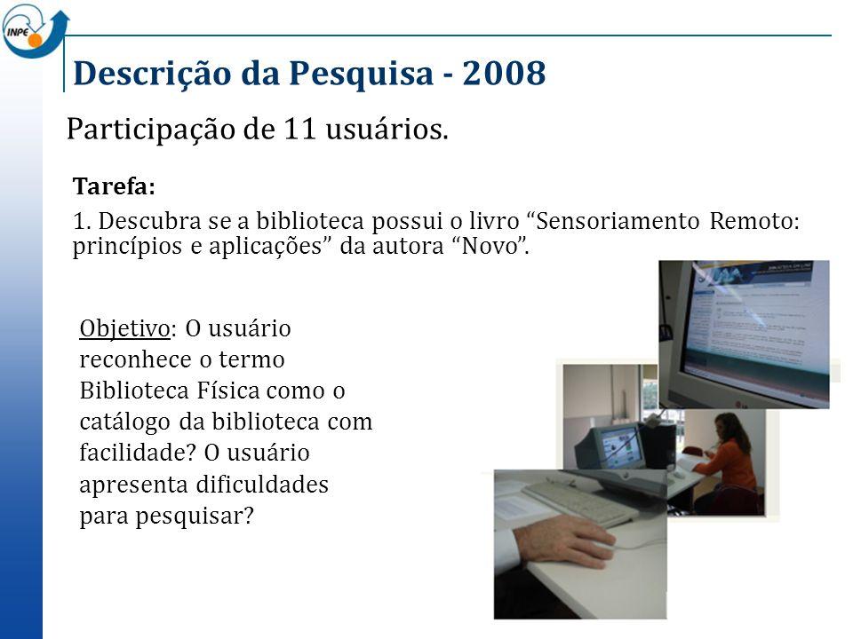 Descrição da Pesquisa - 2008