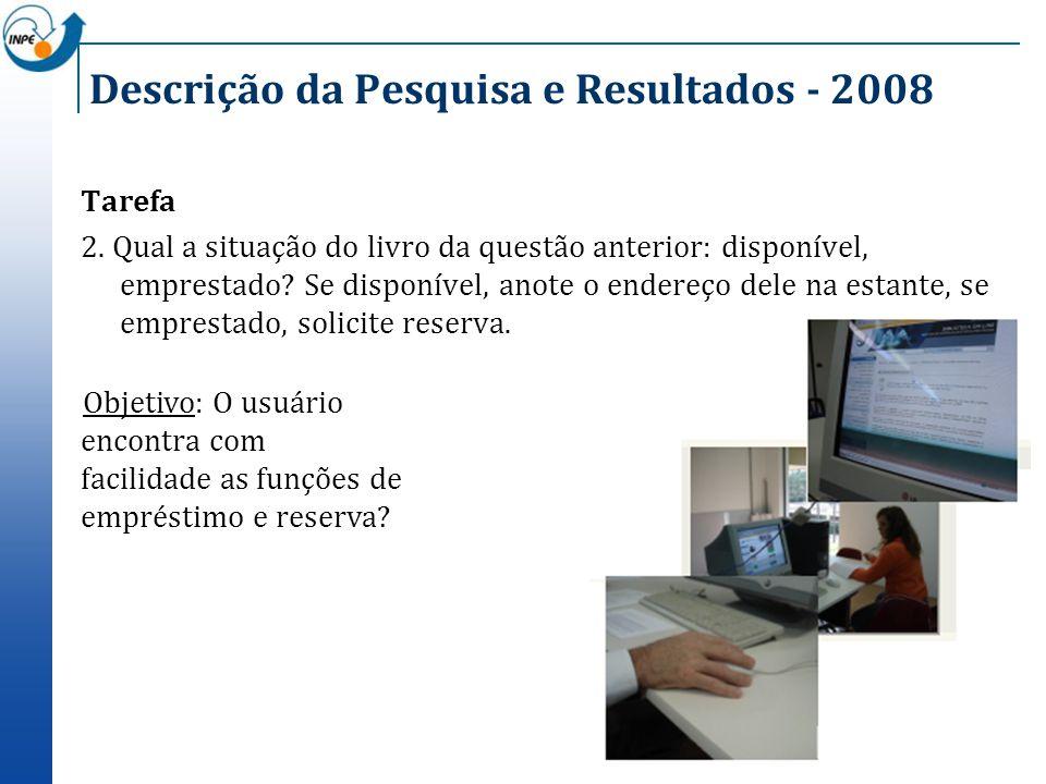 Descrição da Pesquisa e Resultados - 2008