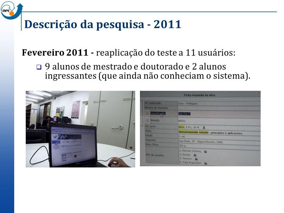 Descrição da pesquisa - 2011