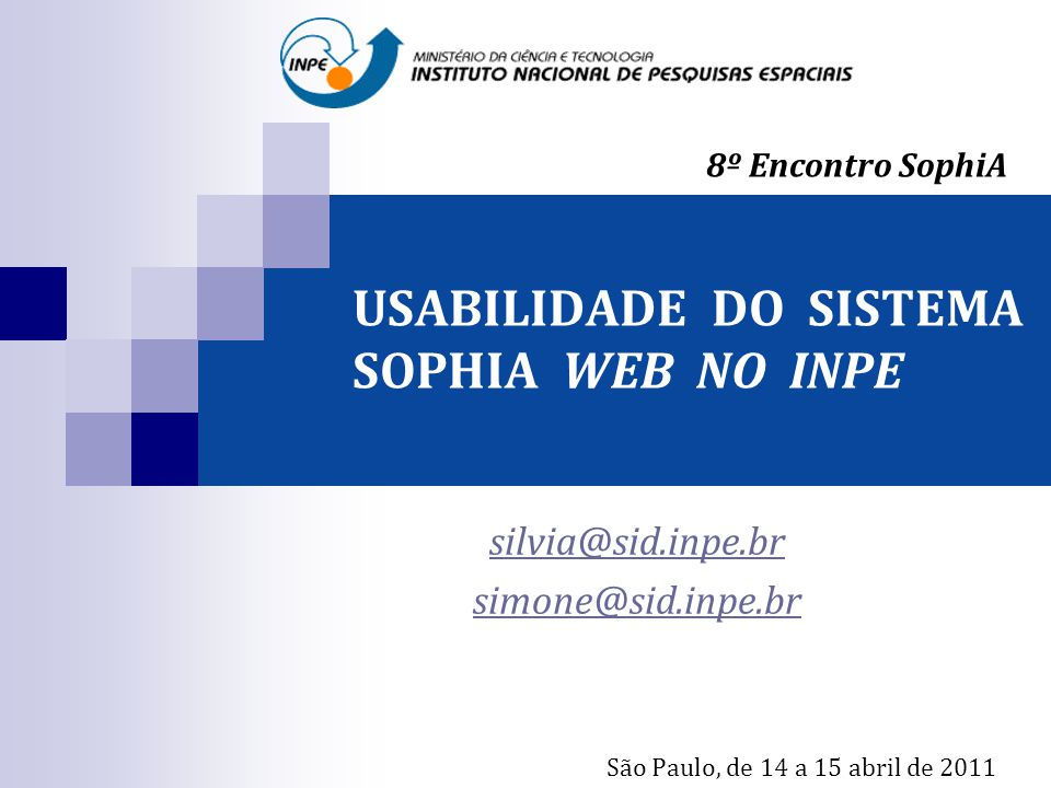 USABILIDADE DO SISTEMA SOPHIA WEB NO INPE