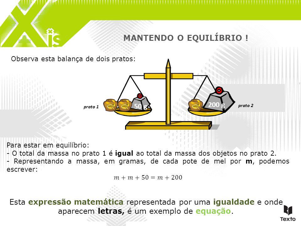 MANTENDO O EQUILÍBRIO ! 200 g 50 g