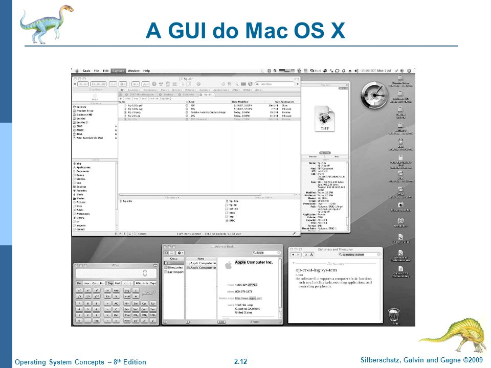 A GUI do Mac OS X