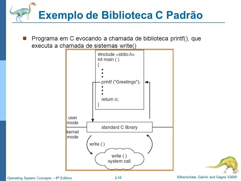 Exemplo de Biblioteca C Padrão
