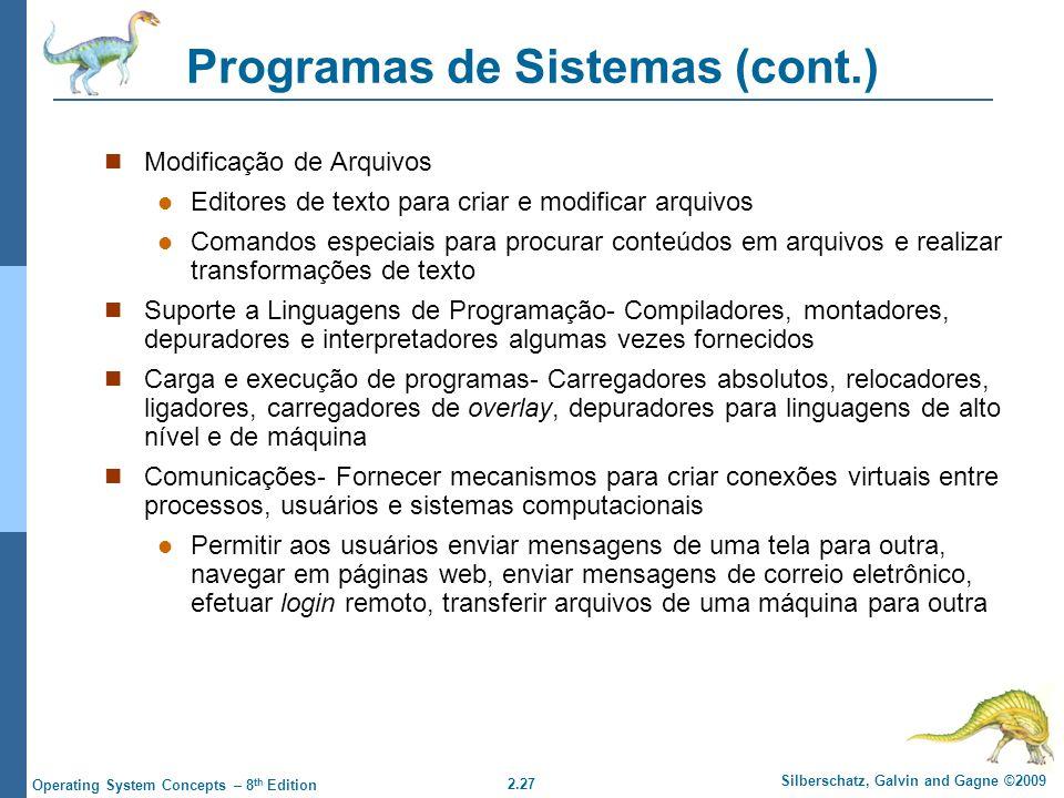 Programas de Sistemas (cont.)