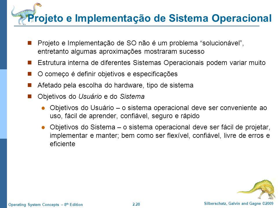 Projeto e Implementação de Sistema Operacional