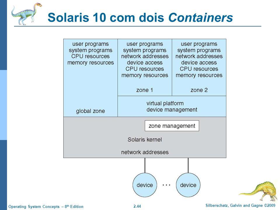 Solaris 10 com dois Containers