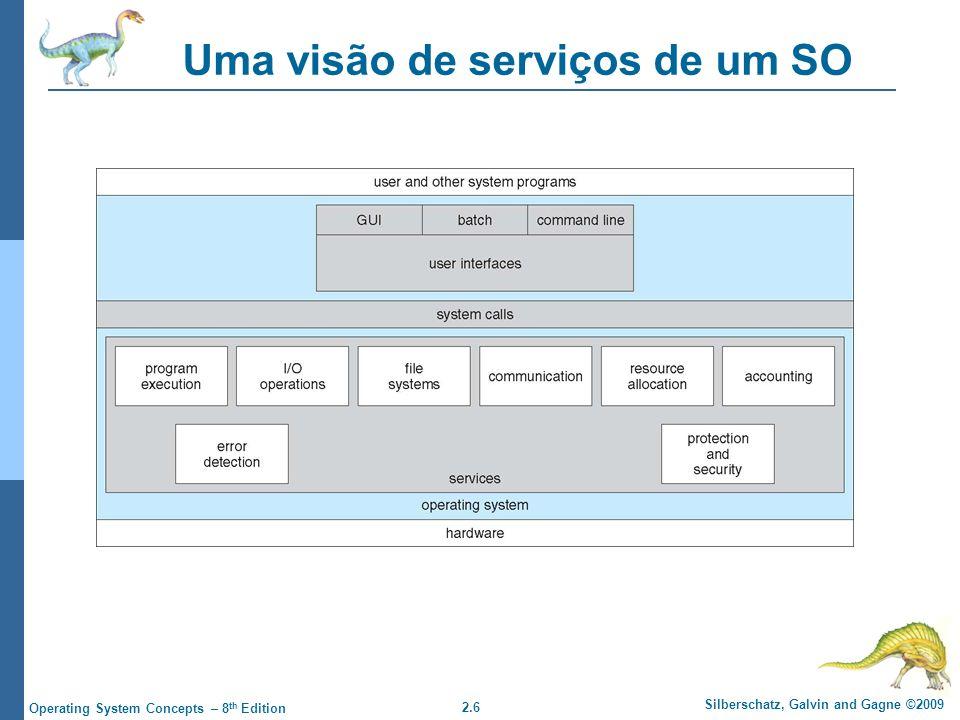 Uma visão de serviços de um SO