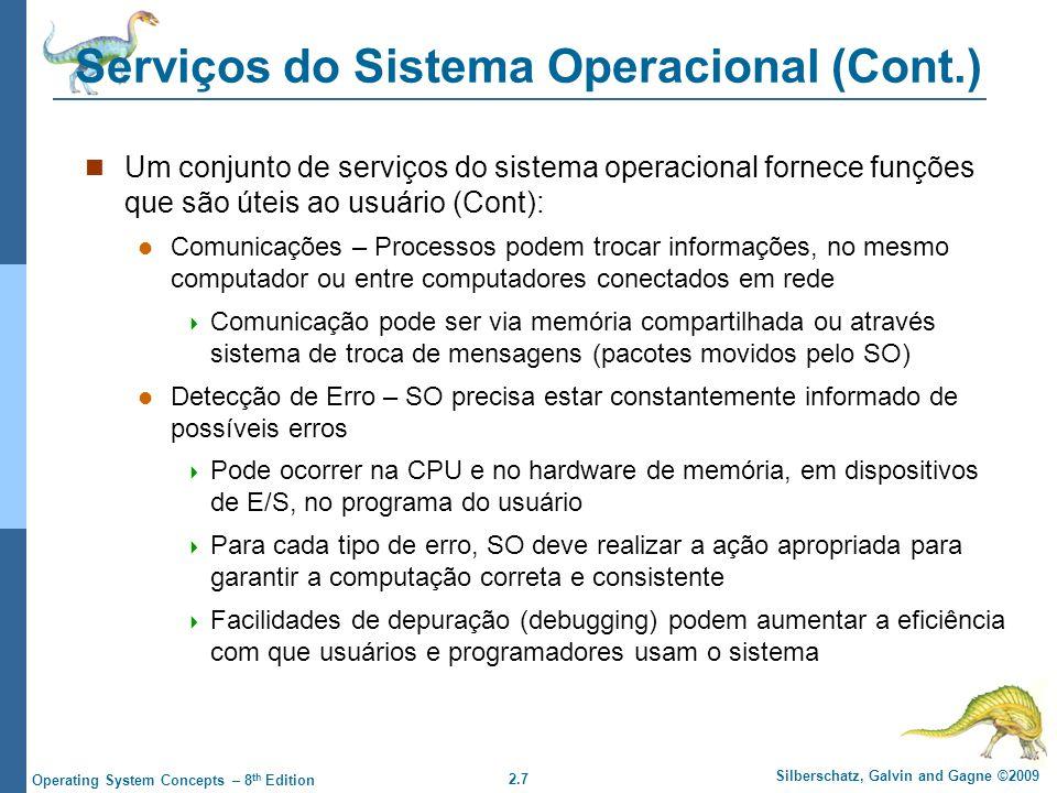 Serviços do Sistema Operacional (Cont.)