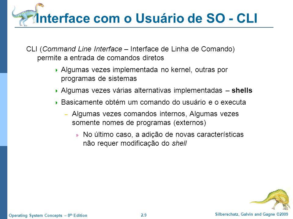 Interface com o Usuário de SO - CLI