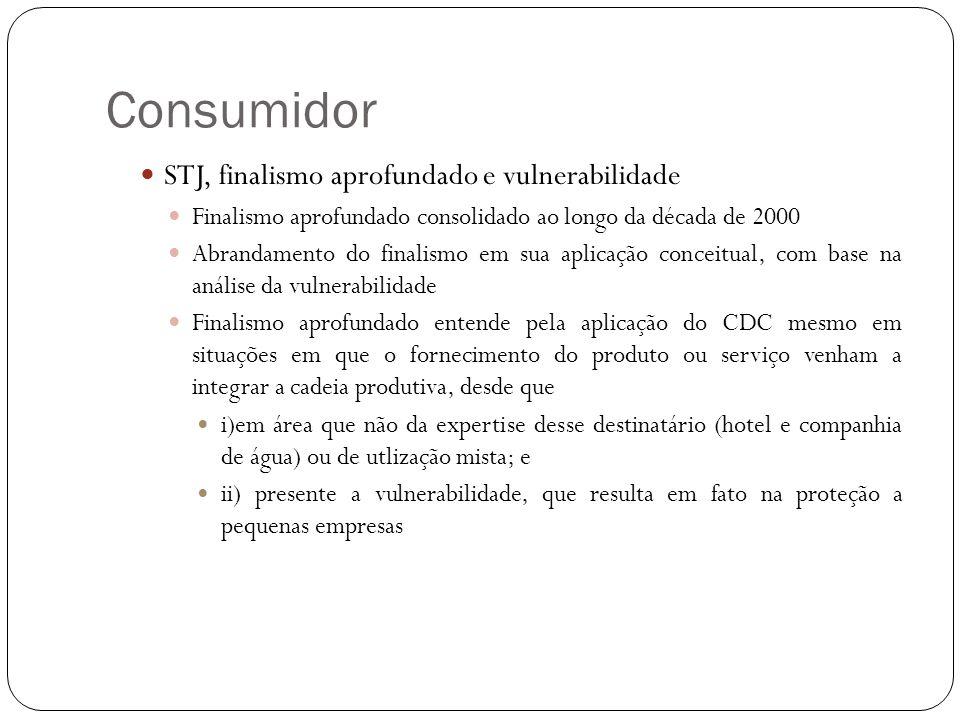 Consumidor STJ, finalismo aprofundado e vulnerabilidade