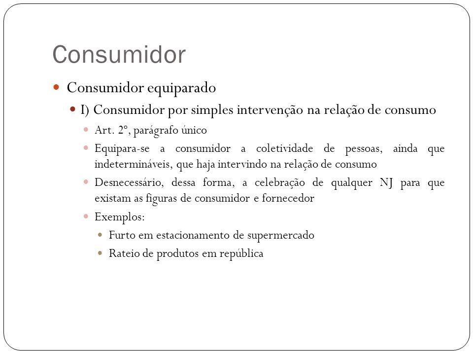 Consumidor Consumidor equiparado