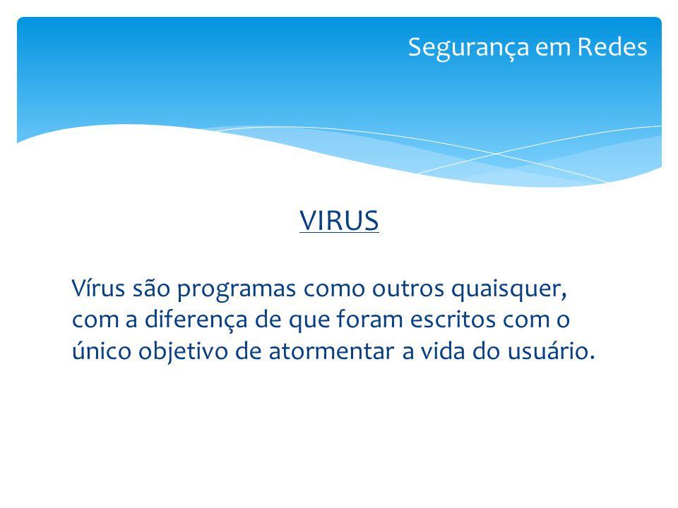 VIRUS Segurança em Redes