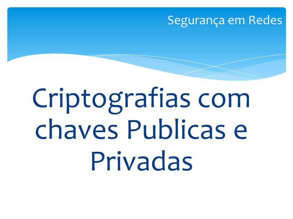 Criptografias com chaves Publicas e Privadas