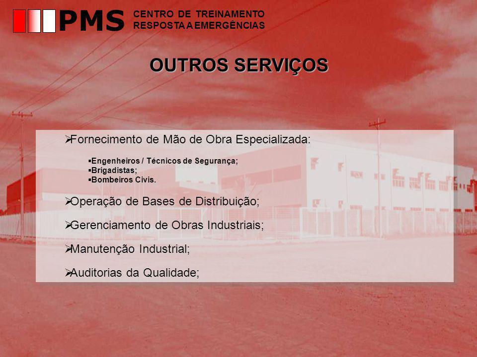 PMS OUTROS SERVIÇOS Fornecimento de Mão de Obra Especializada: