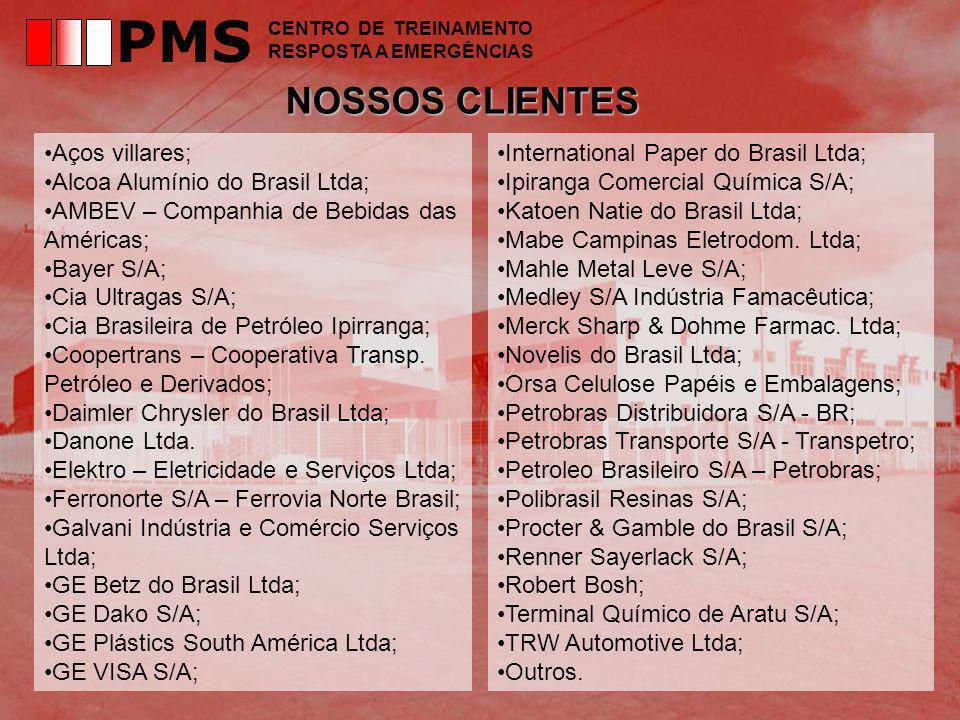 PMS NOSSOS CLIENTES Aços villares; Alcoa Alumínio do Brasil Ltda;
