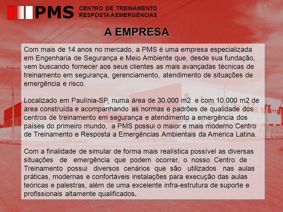 PMS CENTRO DE TREINAMENTO. RESPOSTA A EMERGÊNCIAS. A EMPRESA.