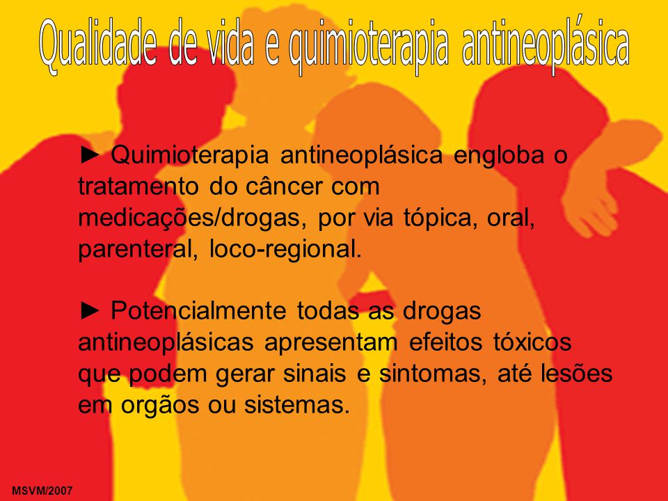 Qualidade de vida e quimioterapia antineoplásica