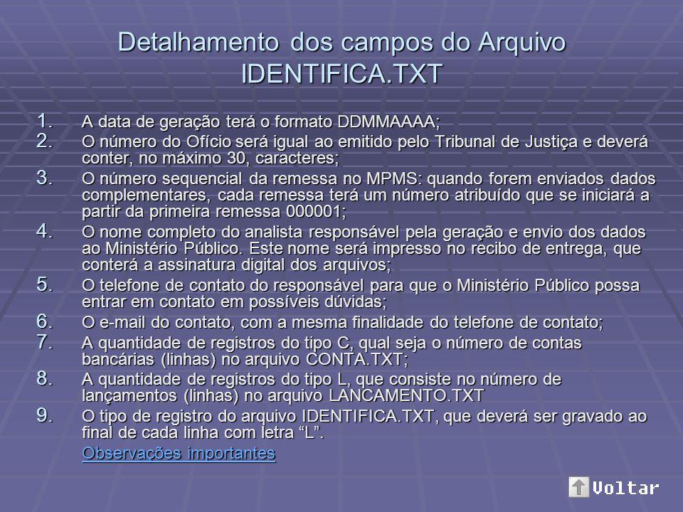 Detalhamento dos campos do Arquivo IDENTIFICA.TXT