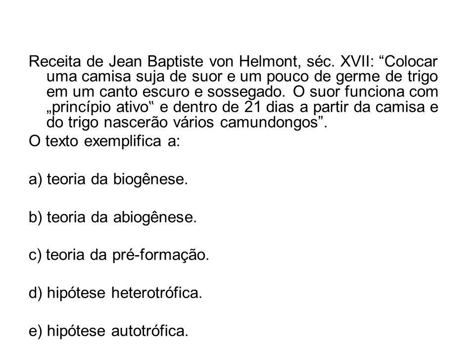 Receita de Jean Baptiste von Helmont, séc