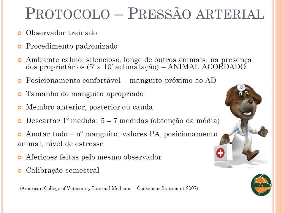 Protocolo – Pressão arterial