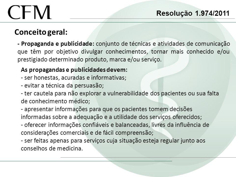 Conceito geral: Resolução 1.974/2011