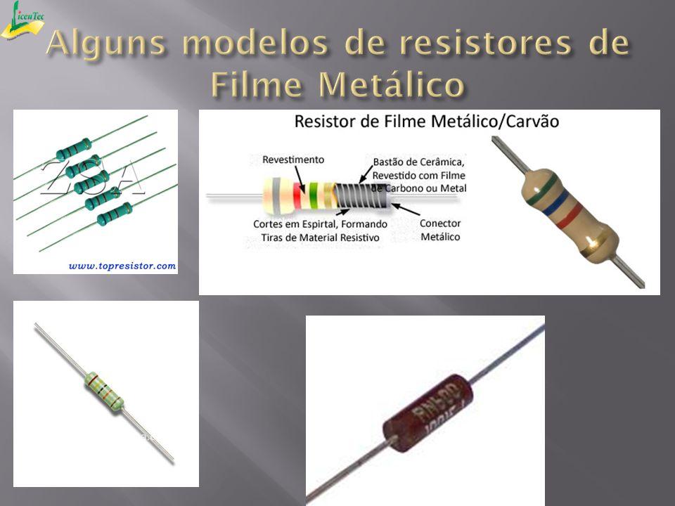 Alguns modelos de resistores de Filme Metálico