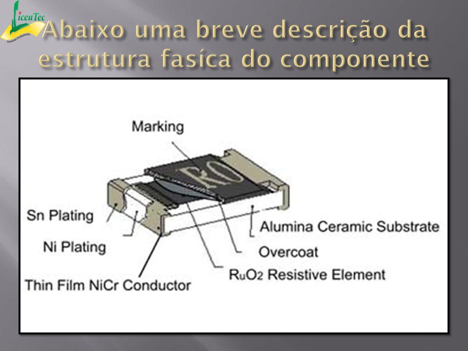 Abaixo uma breve descrição da estrutura fasíca do componente