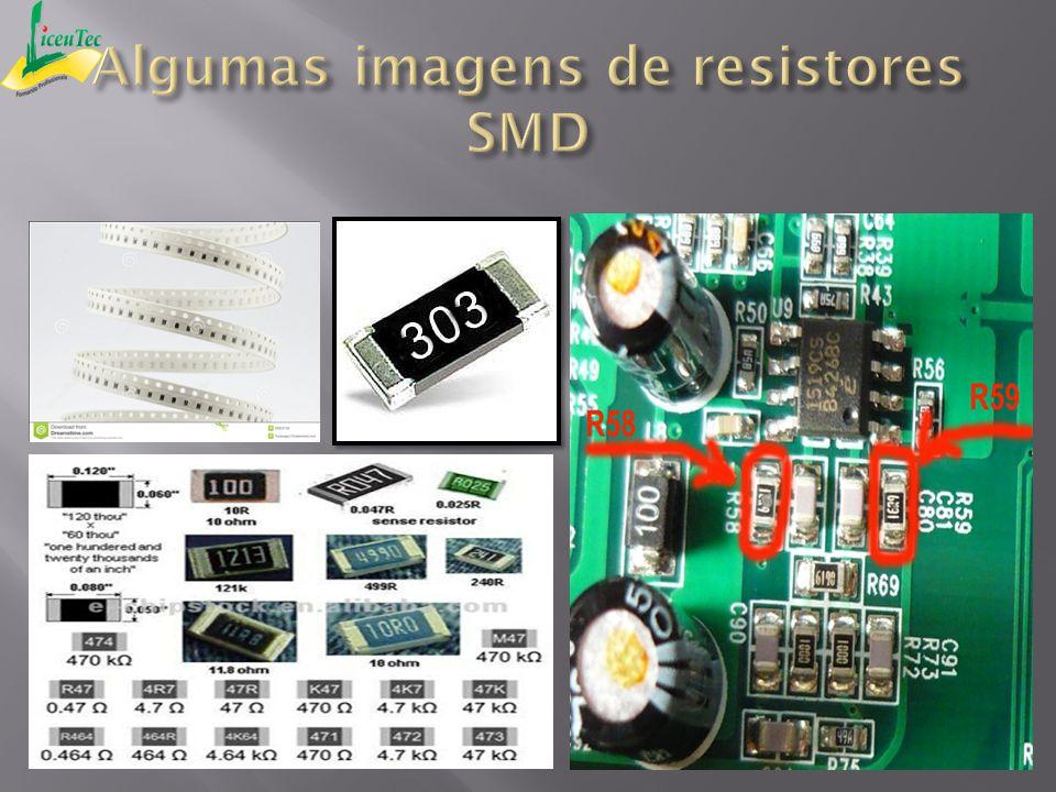 Algumas imagens de resistores SMD