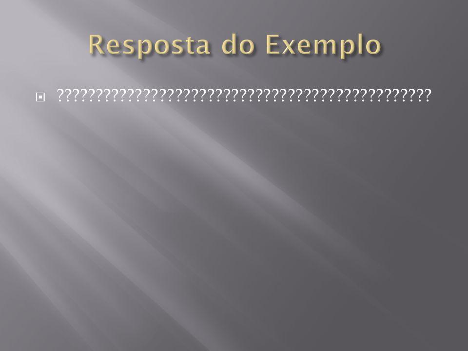 Resposta do Exemplo