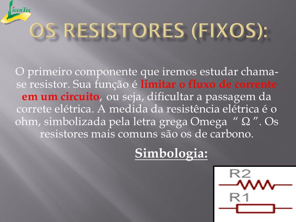 Os resistores (fixos):