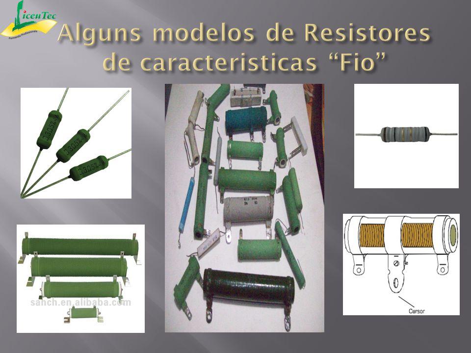 Alguns modelos de Resistores de caracteristicas Fio