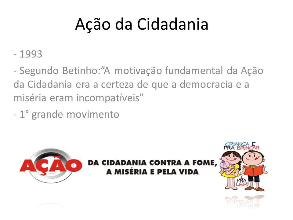 Ação da Cidadania - 1993.