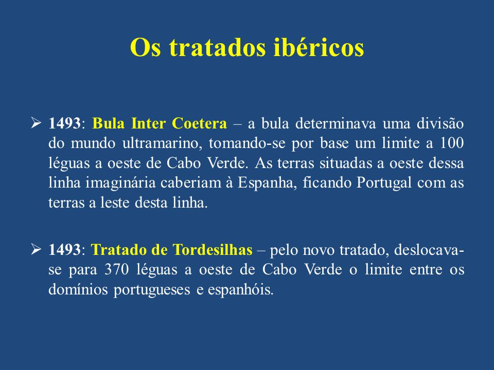 Os tratados ibéricos